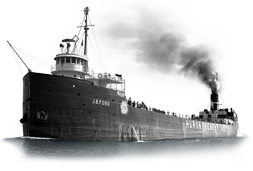 The historic Great Lakes Steamship J.B. Ford